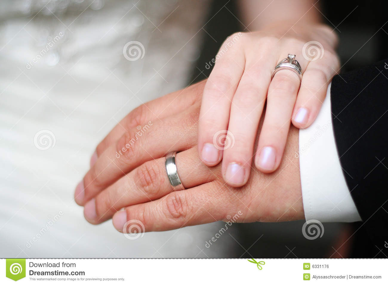 Bride And Groom Wedding Rings Stock Photo - Image of groom, hands ...