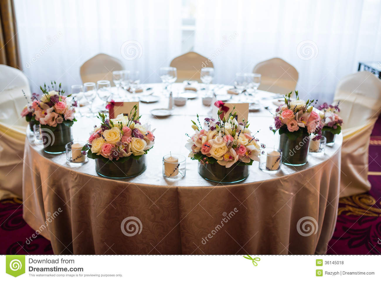 Bride And Groom Wedding Table
