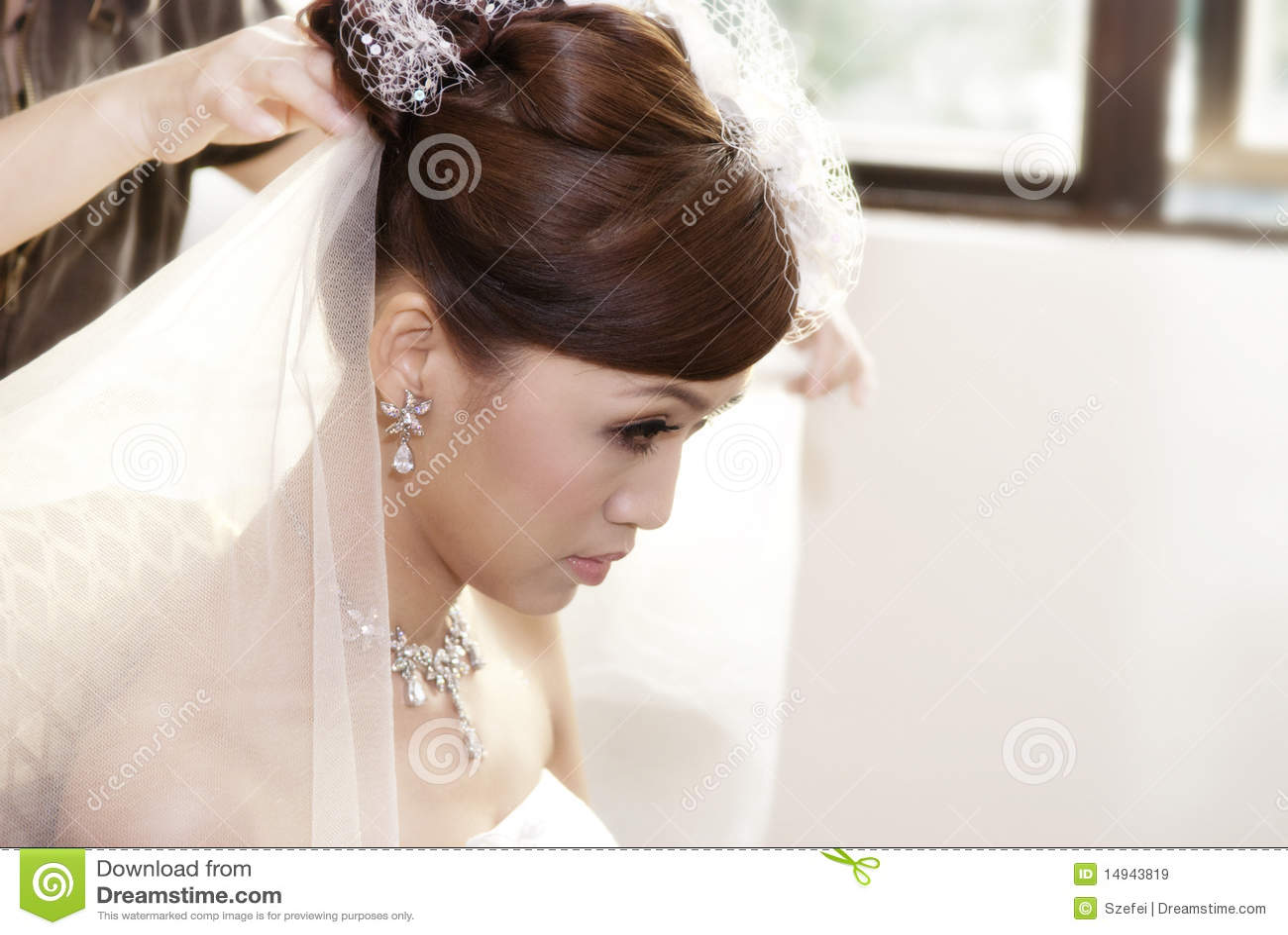 Bride hairdo