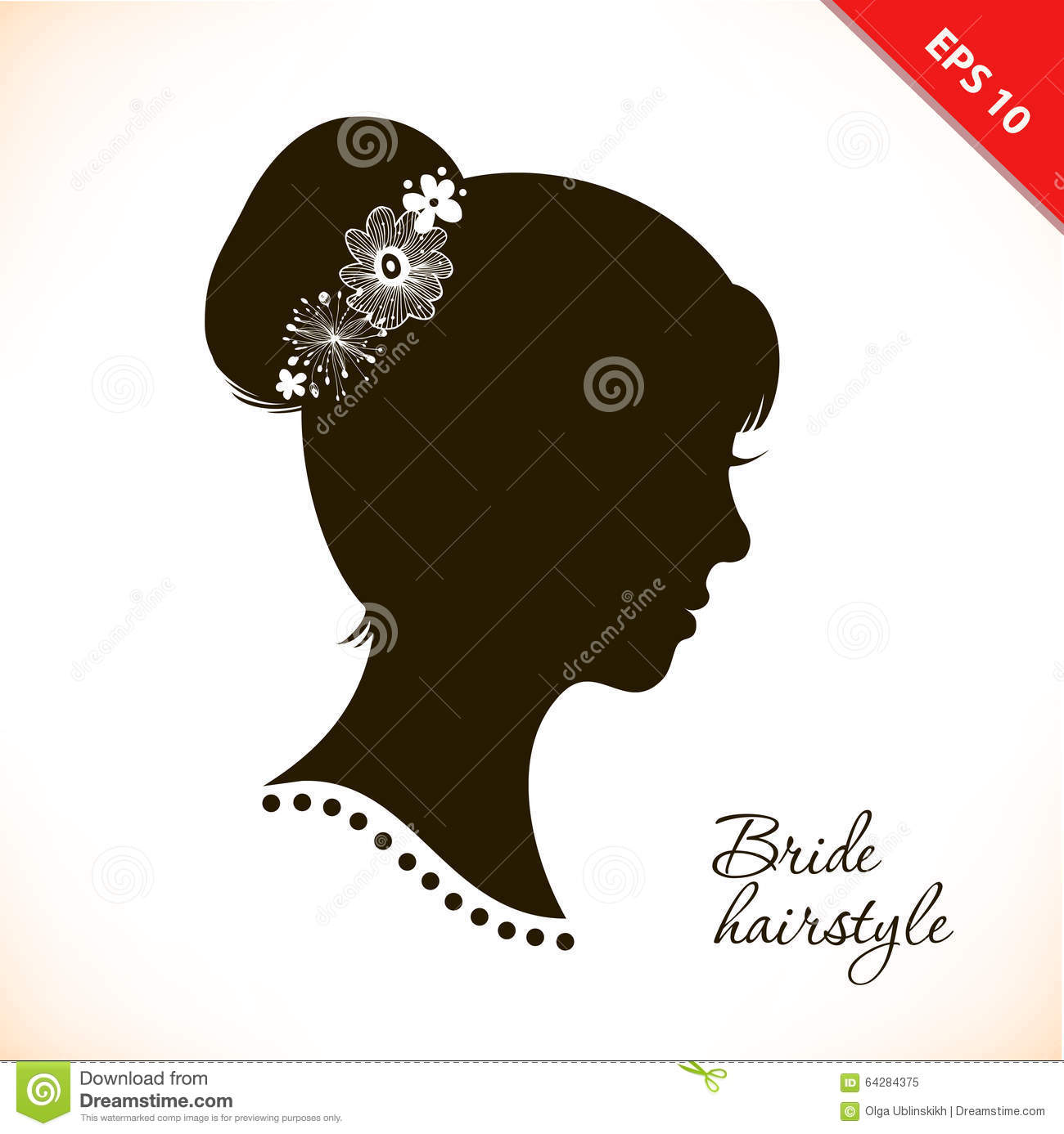 Bride Hairstyle. Beautiful Illustration With Woman Head ...