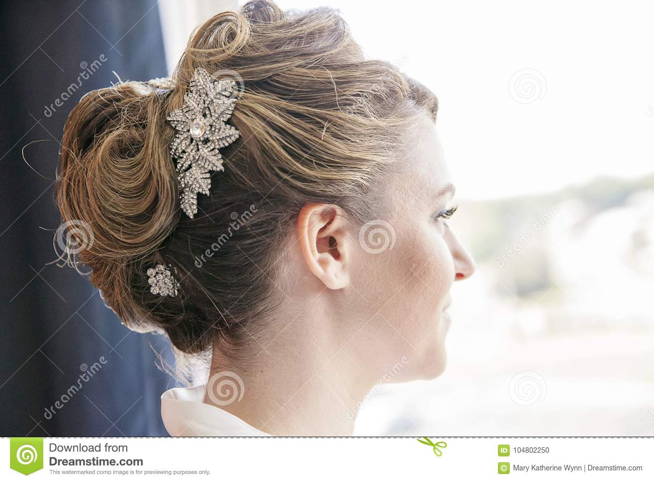 Bride Hairstyle Formal Updo Stock Photo Image Of Prom Beautiful