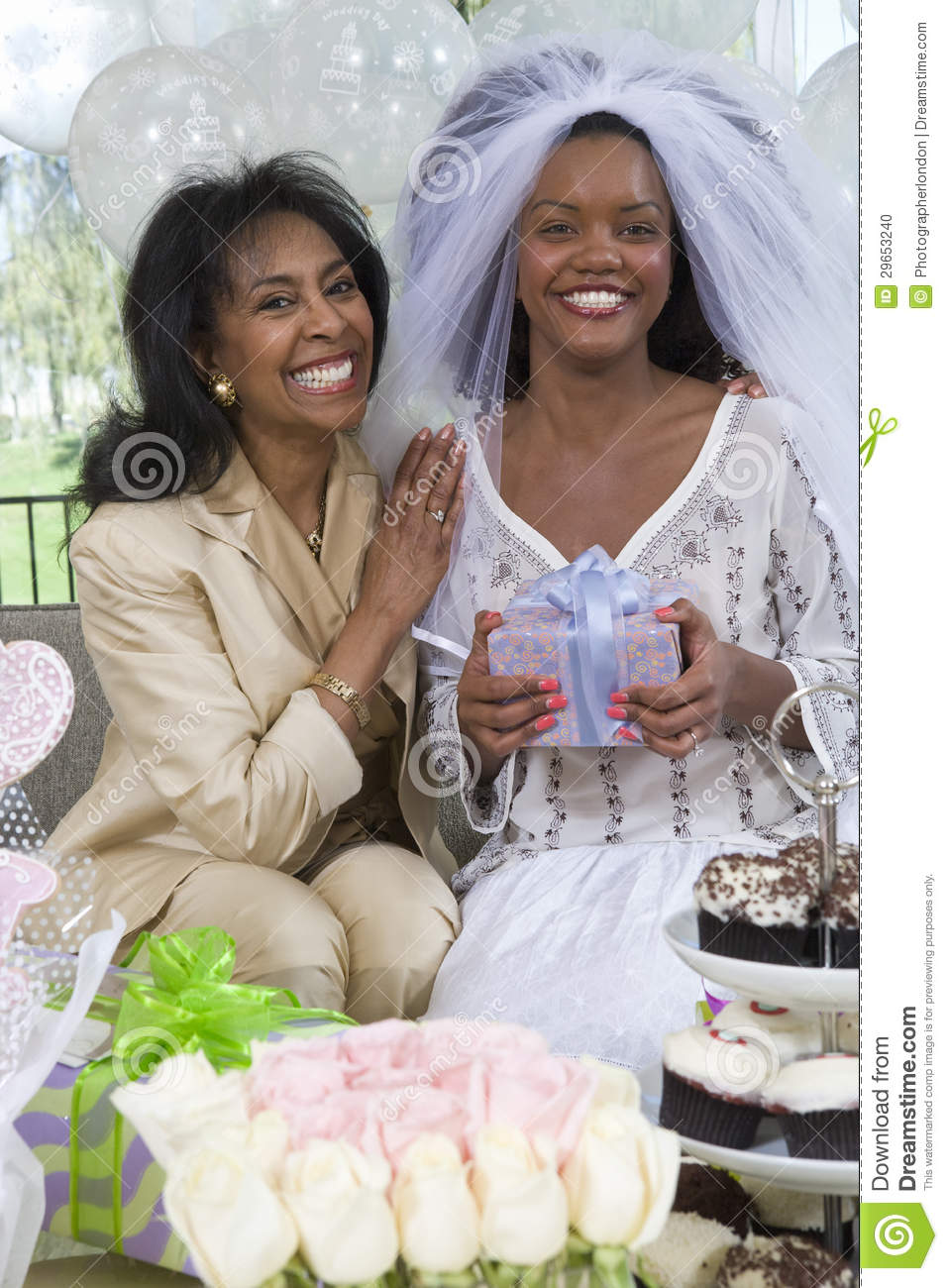 Bride And Her Mother At Hen Party
