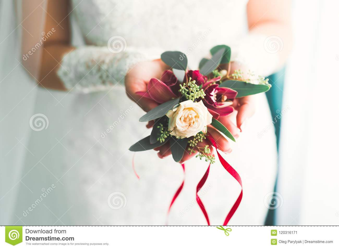 Bride holding big and beautiful wedding bouquet with flowers stock download bride holding big and beautiful wedding bouquet with flowers stock image image of austin izmirmasajfo