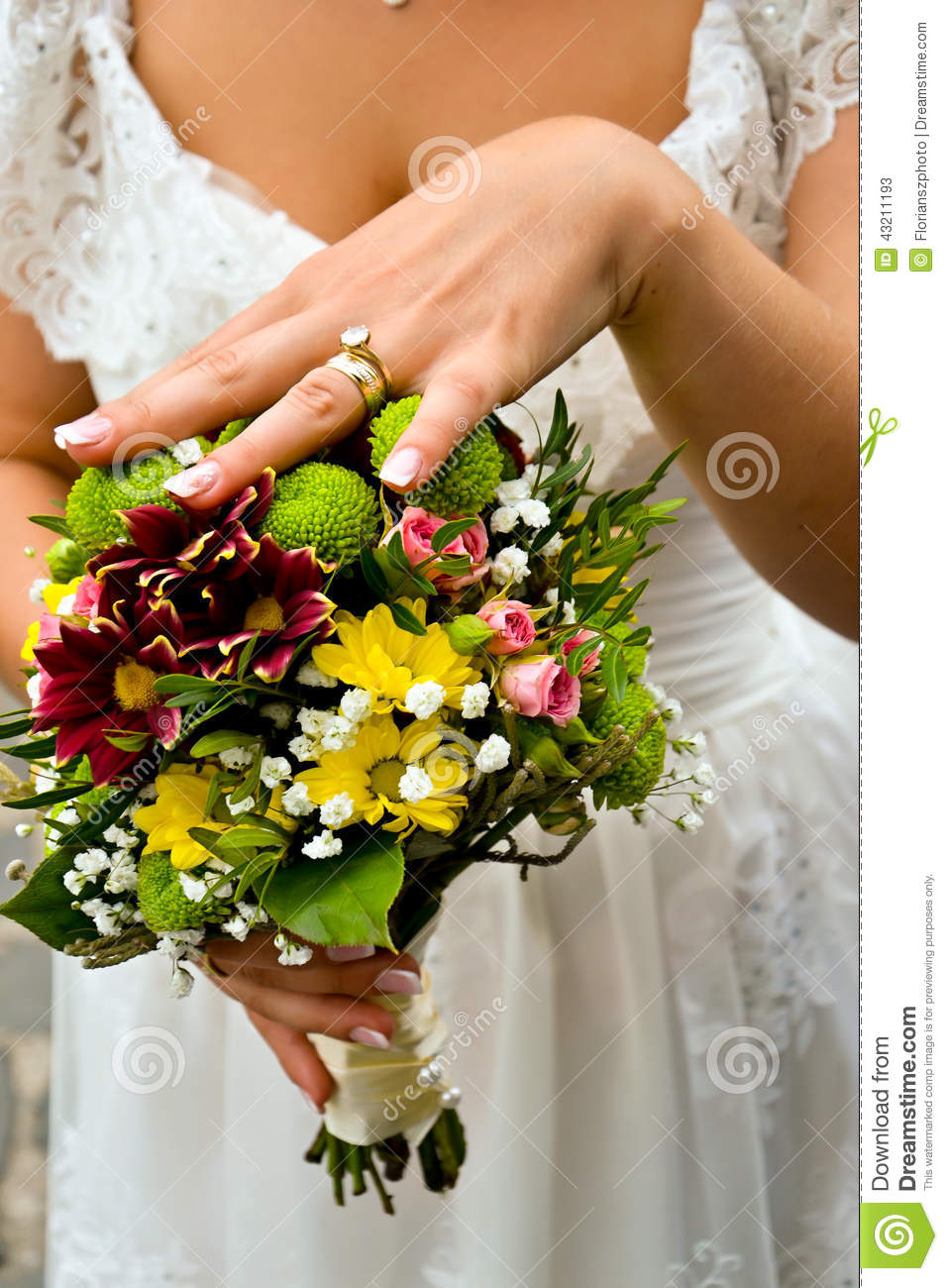 Bride holding bouquet stock image image of beautiful for Wedding day decorations