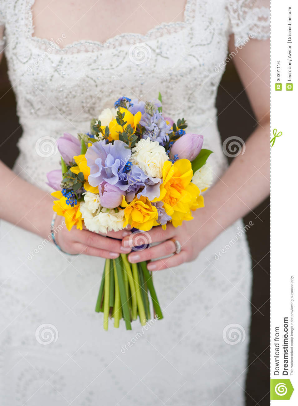 Daffodil And Rose Bouquet bouquet of spring flowers
