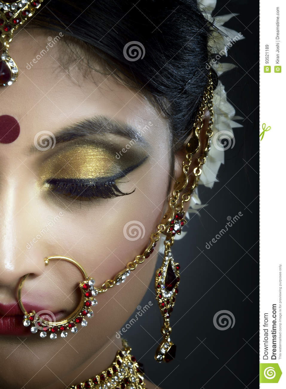 Bride with jewelry