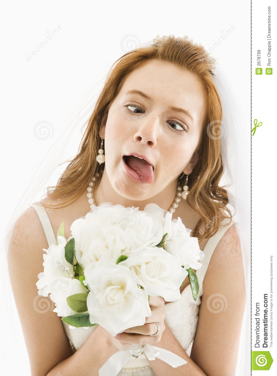 Funny Bridal Makeup : Bride Making Funny Face. Royalty Free Stock Images - Image ...