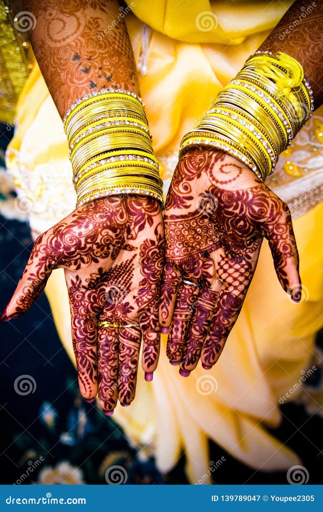 Bride with mehendi