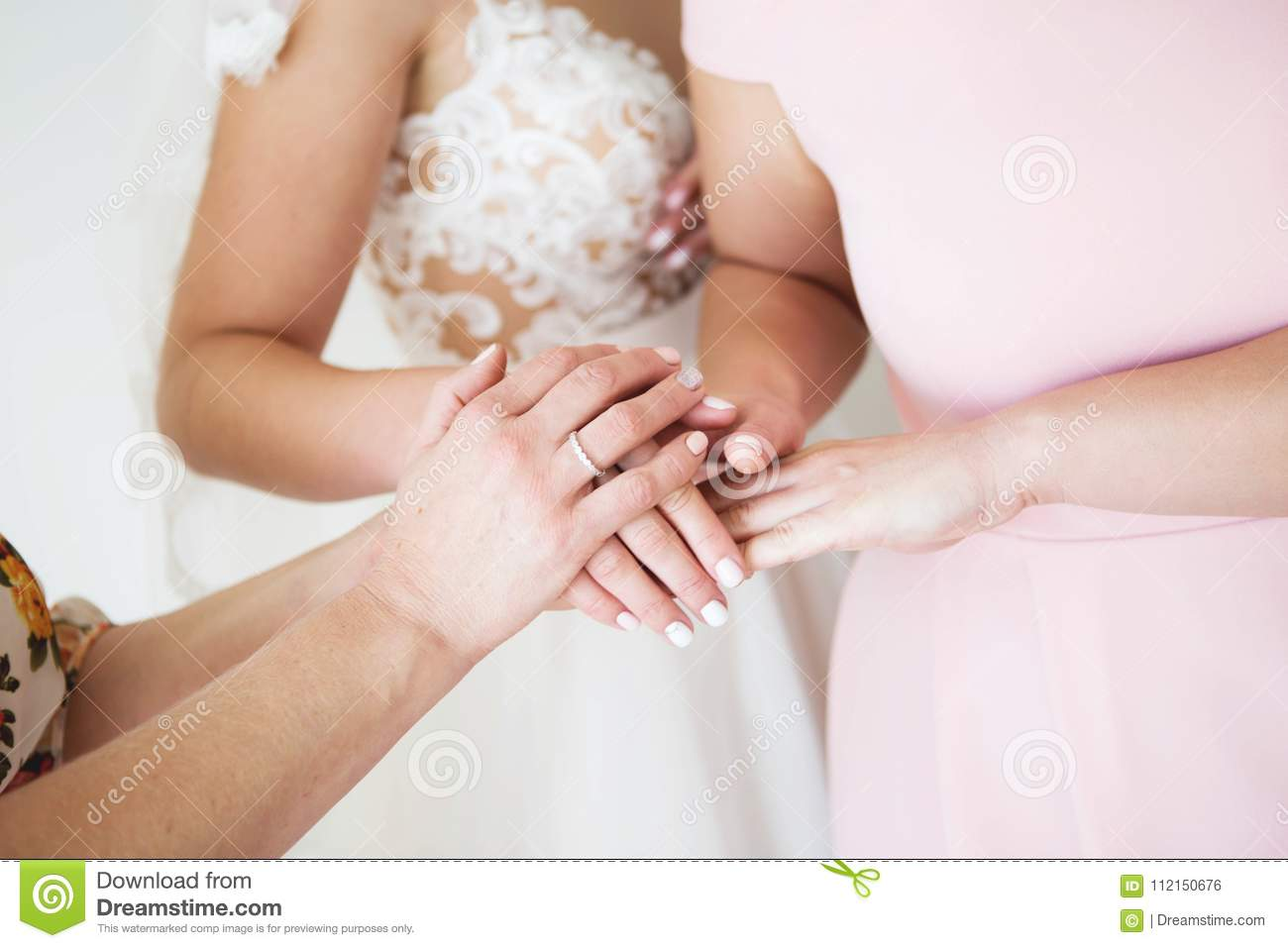 Bride With Mother Wedding Hand Wedding Blessing Of The Bride Morning Of The Bride Hand Of The Bride And Mother Stock Photo Image Of Blessing Brides 112150676,Party Dress For Wedding Guest