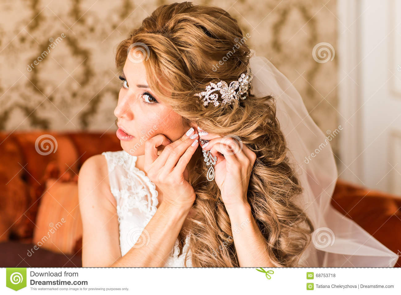 Was specially young beautiful bride preparing