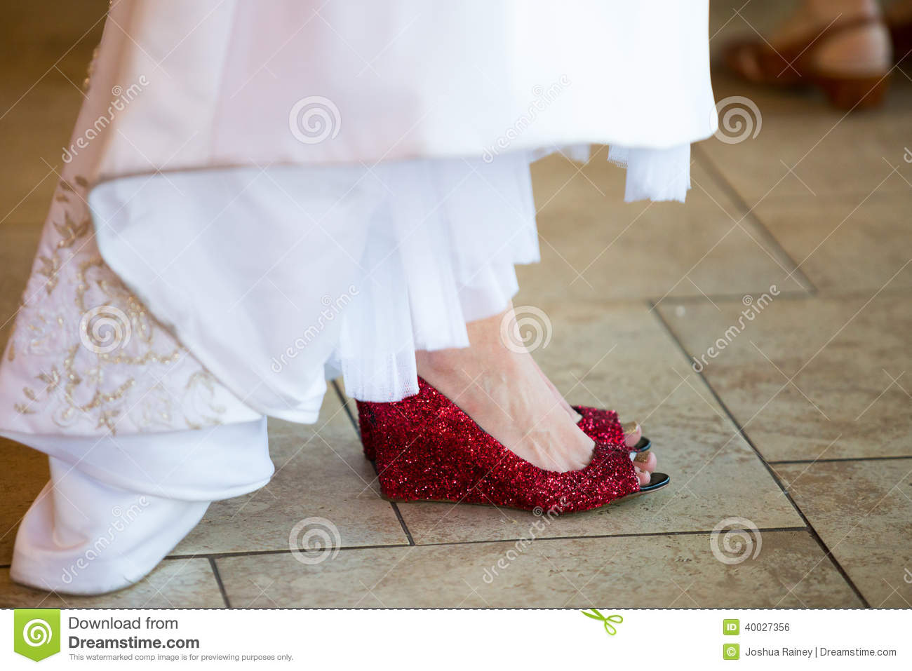 Bride Red Wedding Shoes