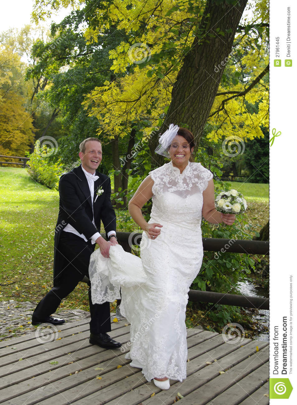 Bride Running Away Royalty Free Stock Photo Image 27961445