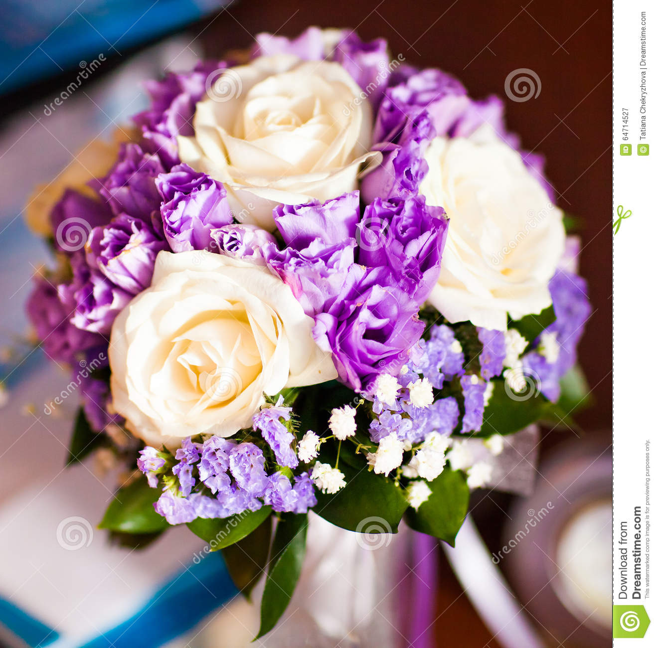 Brides bouquet with white roses and purple stock image image of bride s bouquet with white roses and purple mightylinksfo