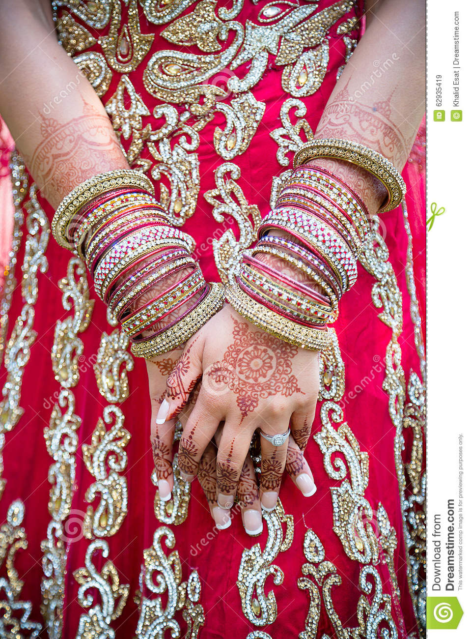 Bride S Hands And Bangles Stock Image Image Of Bride 62935419