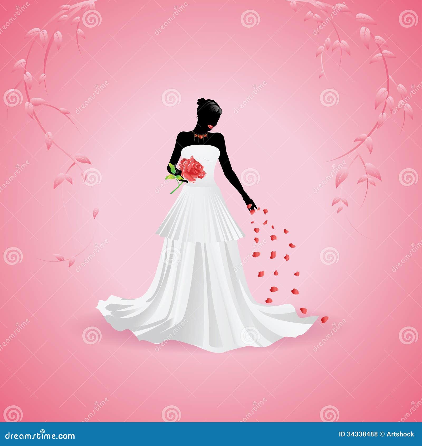 Bride Silhouette Royalty Free Stock Photos - Image: 34338488