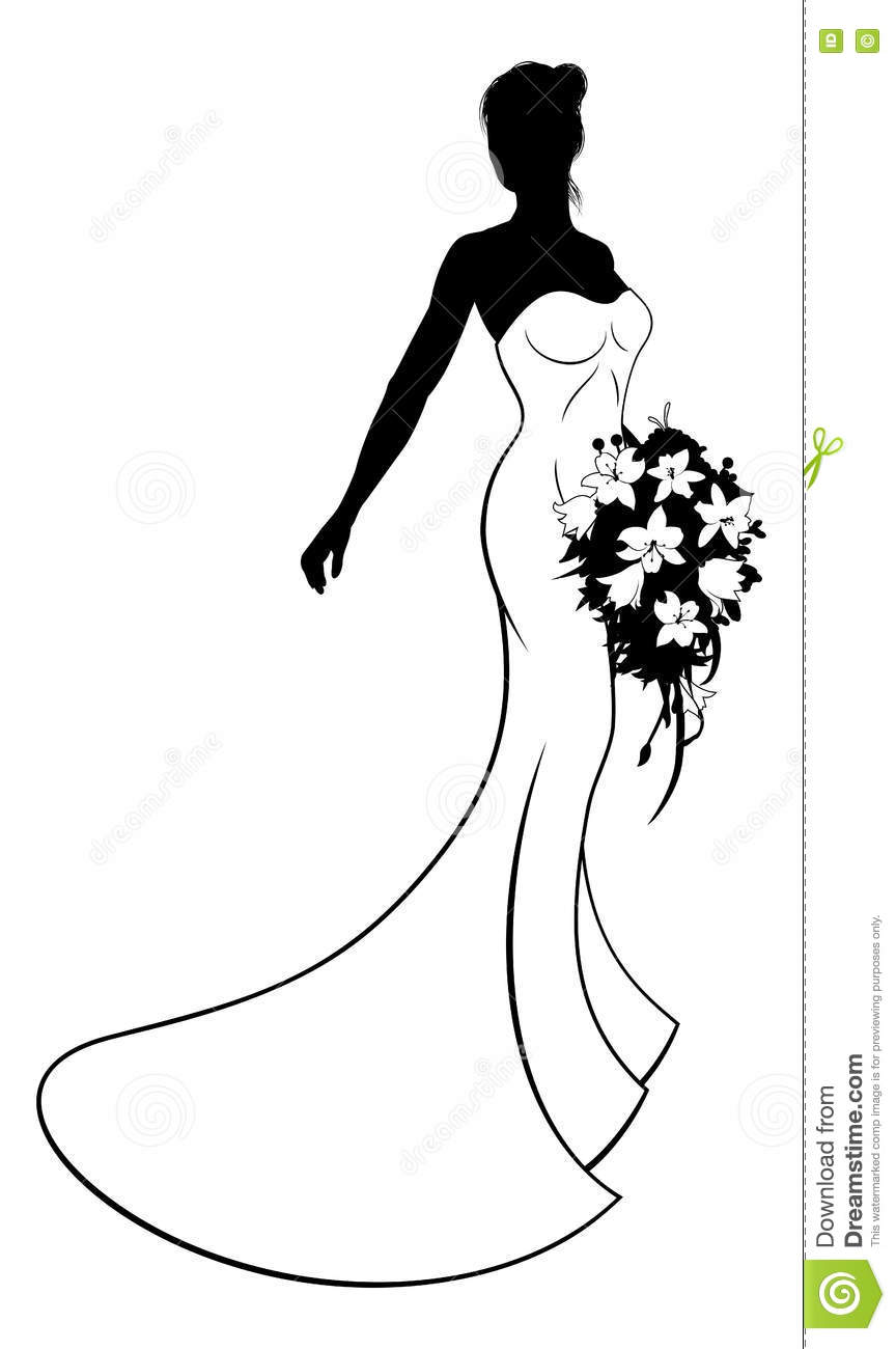It is an image of Accomplished Bridesmaid Clip Art