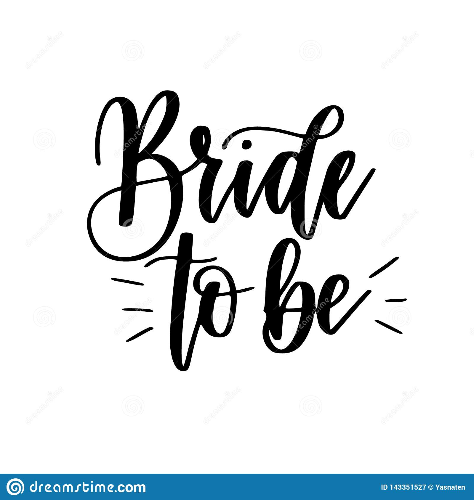 Bride To Be Bachelorette Party Vector Calligraphy Design ...