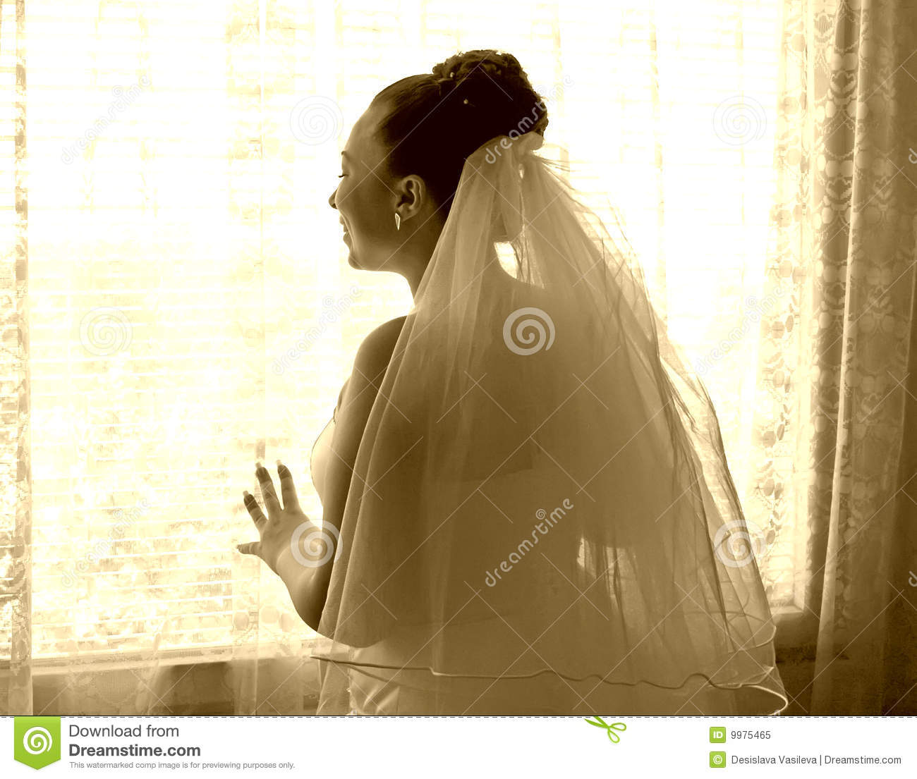 Bride waiting for the groom
