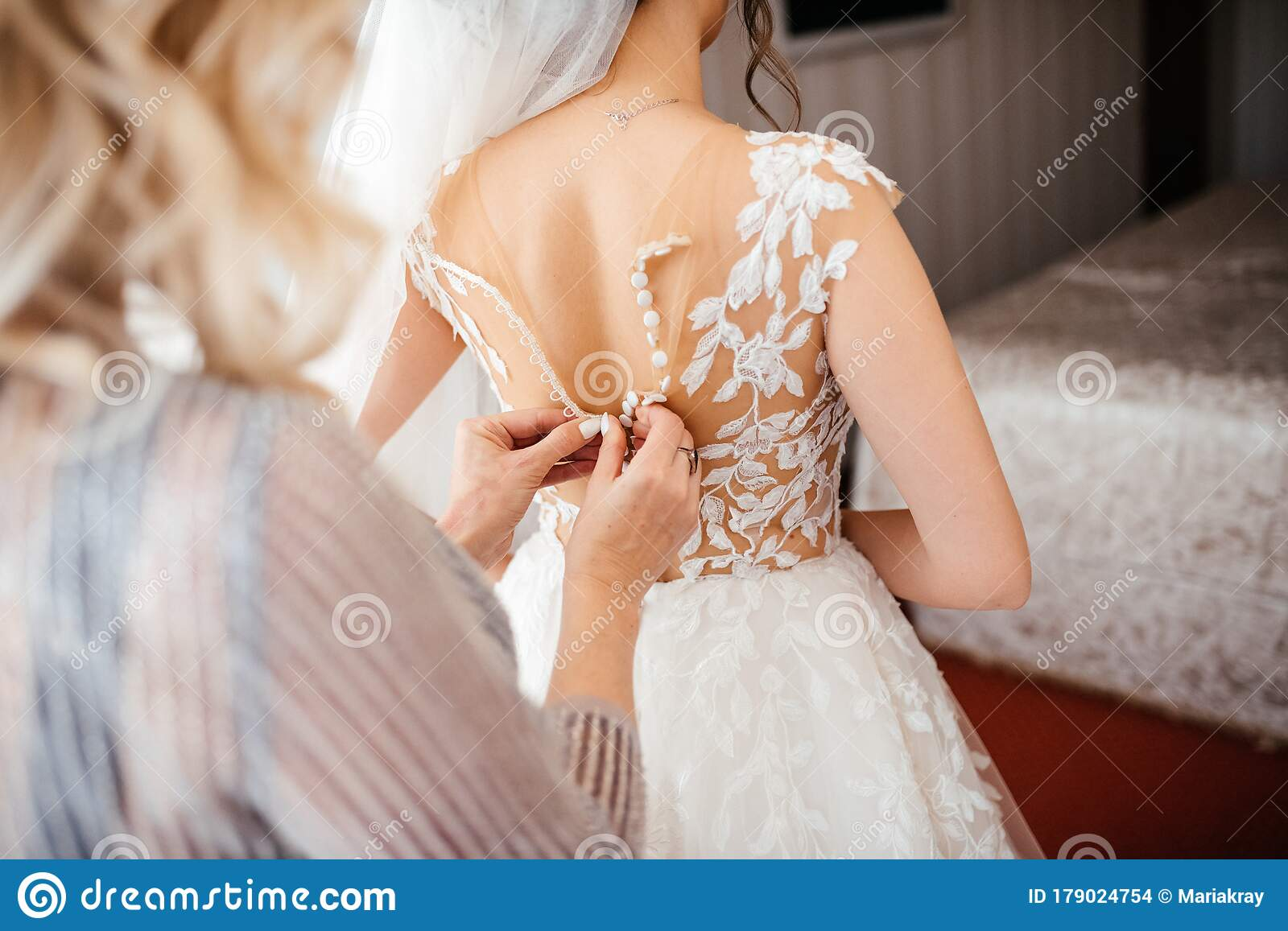 Mother Helping The Bride With Wedding Dress Preparation For The Wedding Day Before The Ceremony Stock Photo Image Of Lace Attractive 179024754,Party Dress For Wedding Guest