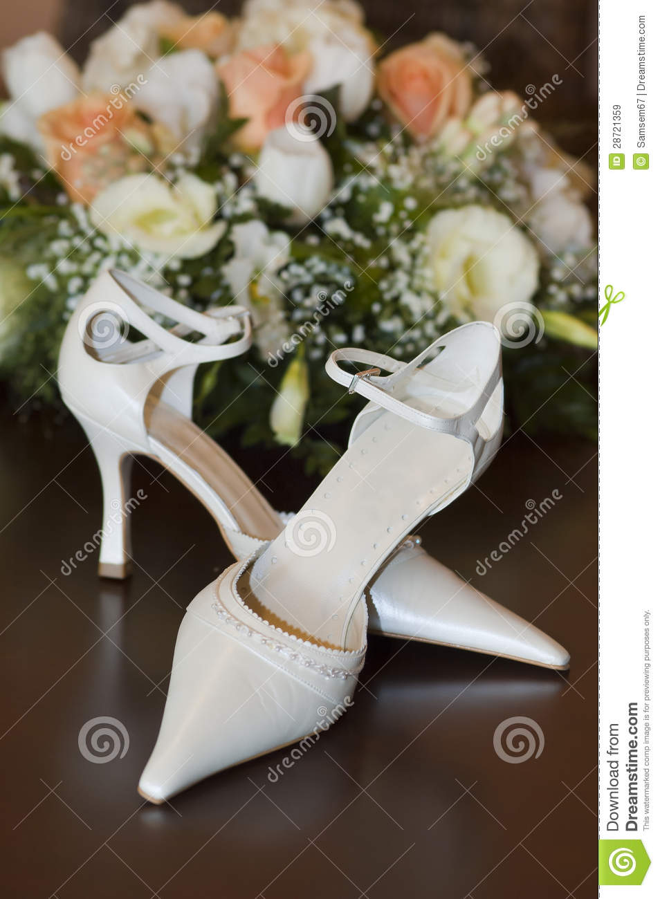 More similar stock images of ` Brides shoes and flowers