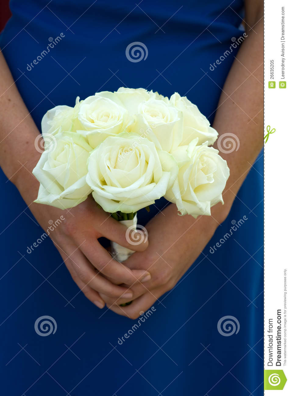 bridesmaid holding white rose wedding bouquet royalty free. Black Bedroom Furniture Sets. Home Design Ideas