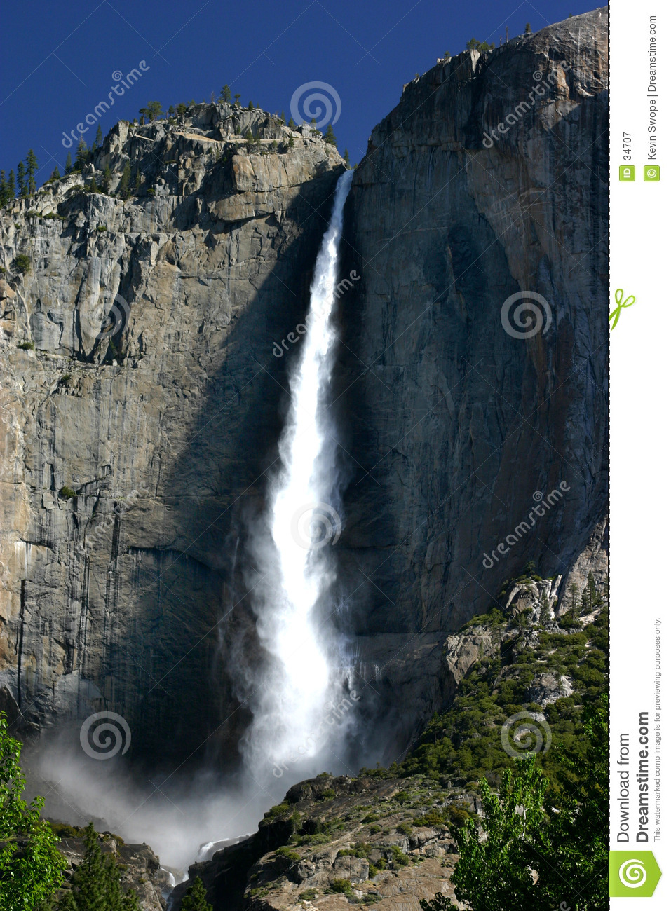 Download Bridevail Falls stock image. Image of yosemite, fall, bridvail - 34707