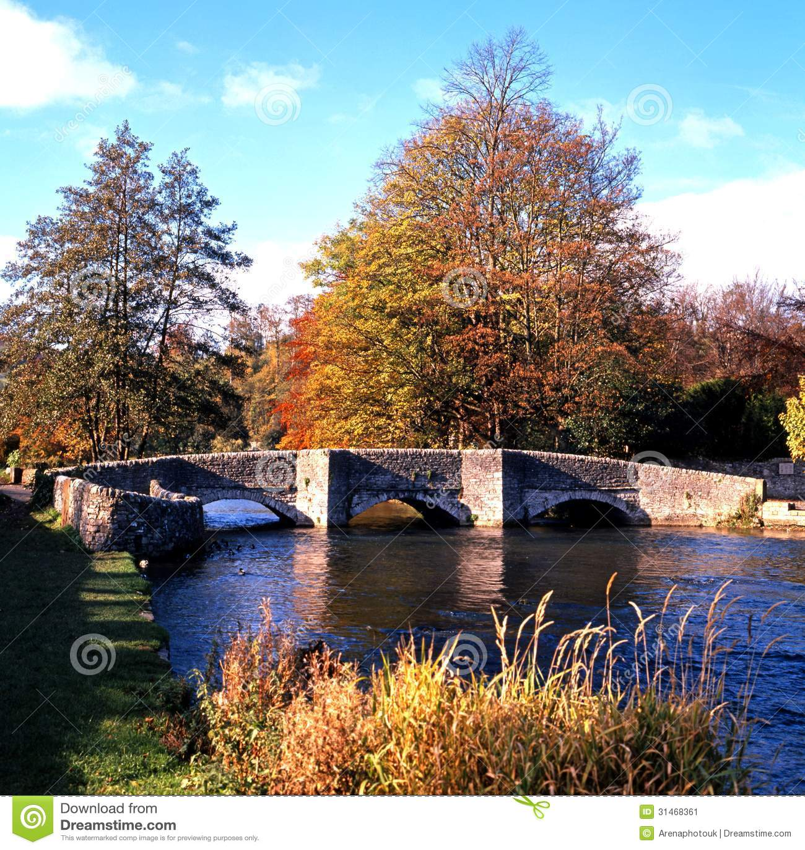 0048Bridge πέρα από Wye ποταμών, Derbyshire.