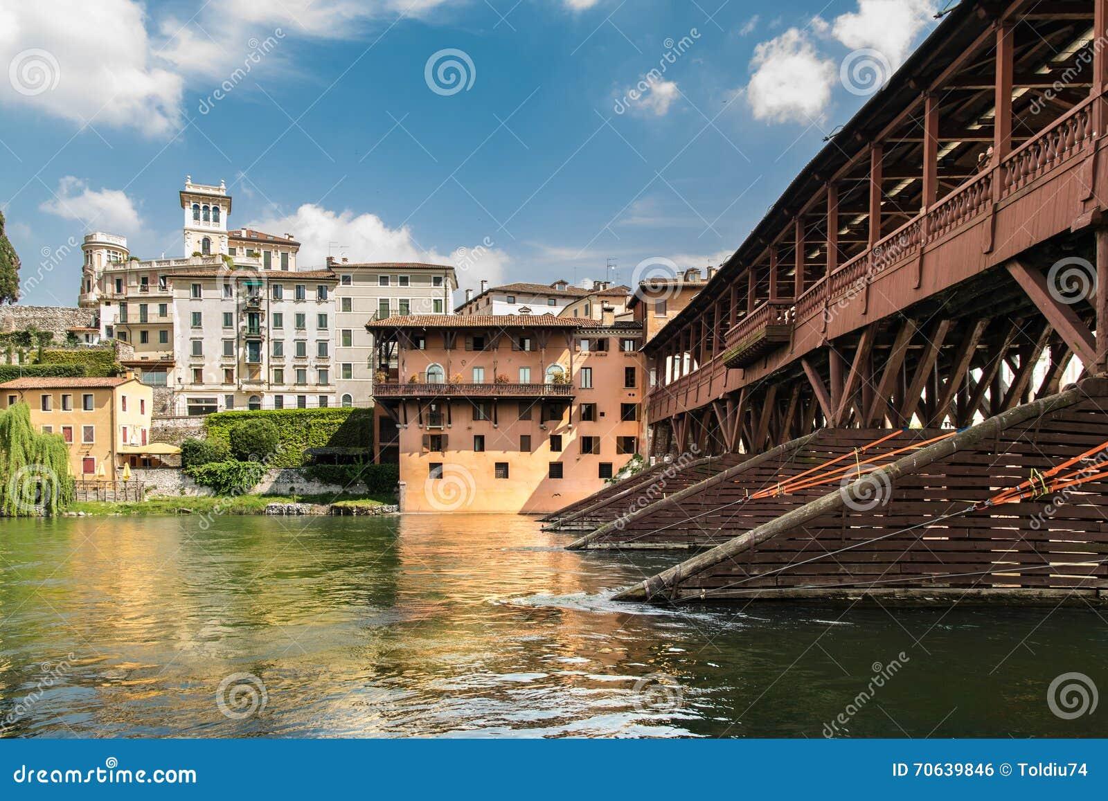Bridge of the alpini in bassano del grappa vicenza italy - Piscine termali bassano del grappa ...