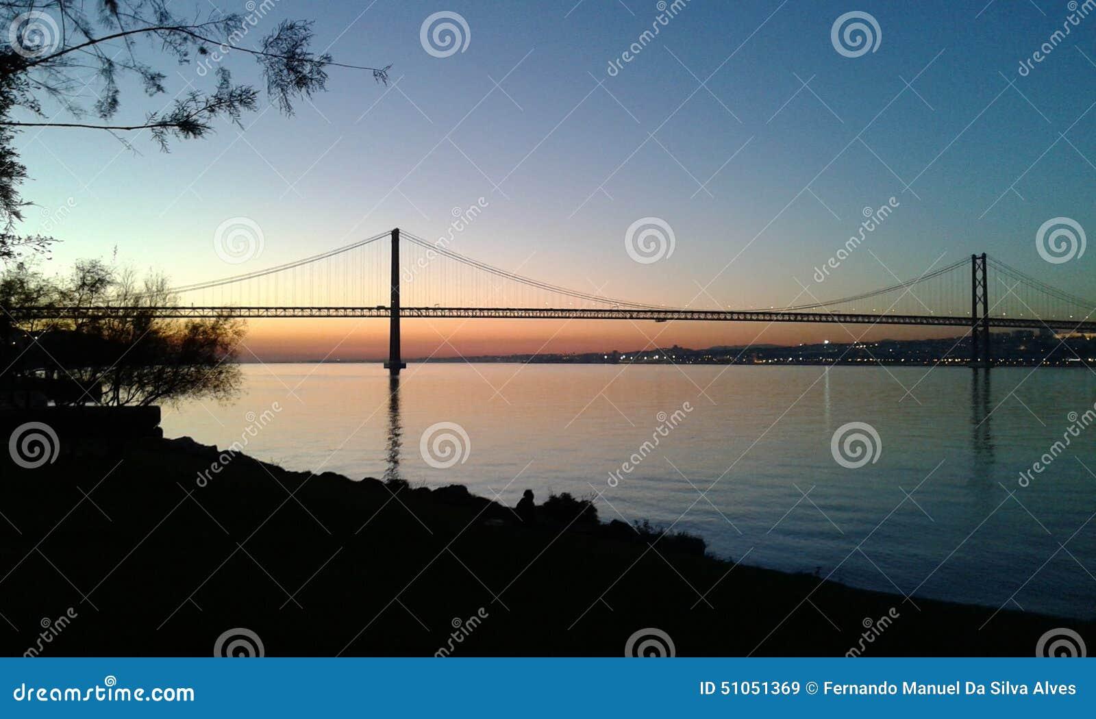Bridge April 25 and Tagus River
