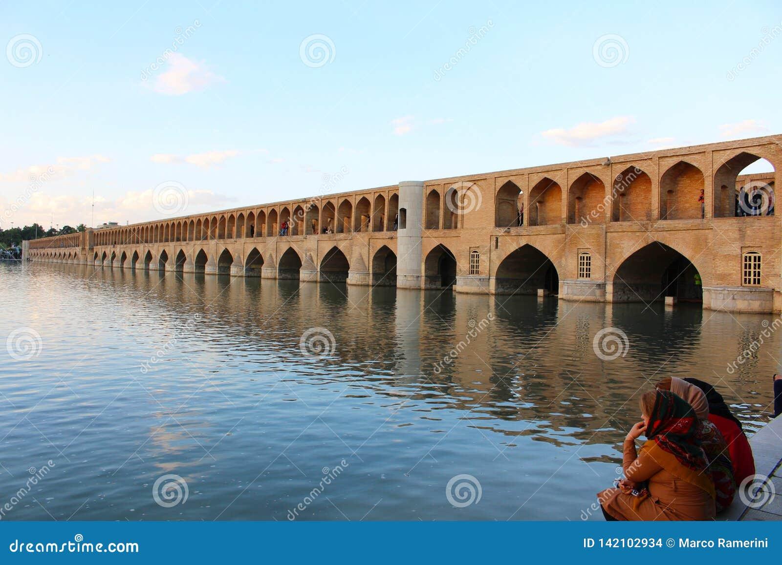 Bridge arches. Si-o-se-pol Bridge in Isfahan, Iran