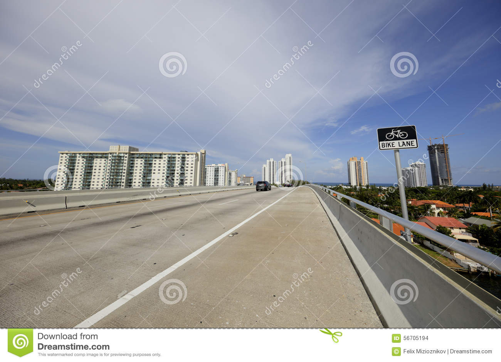 Bridge bike lane