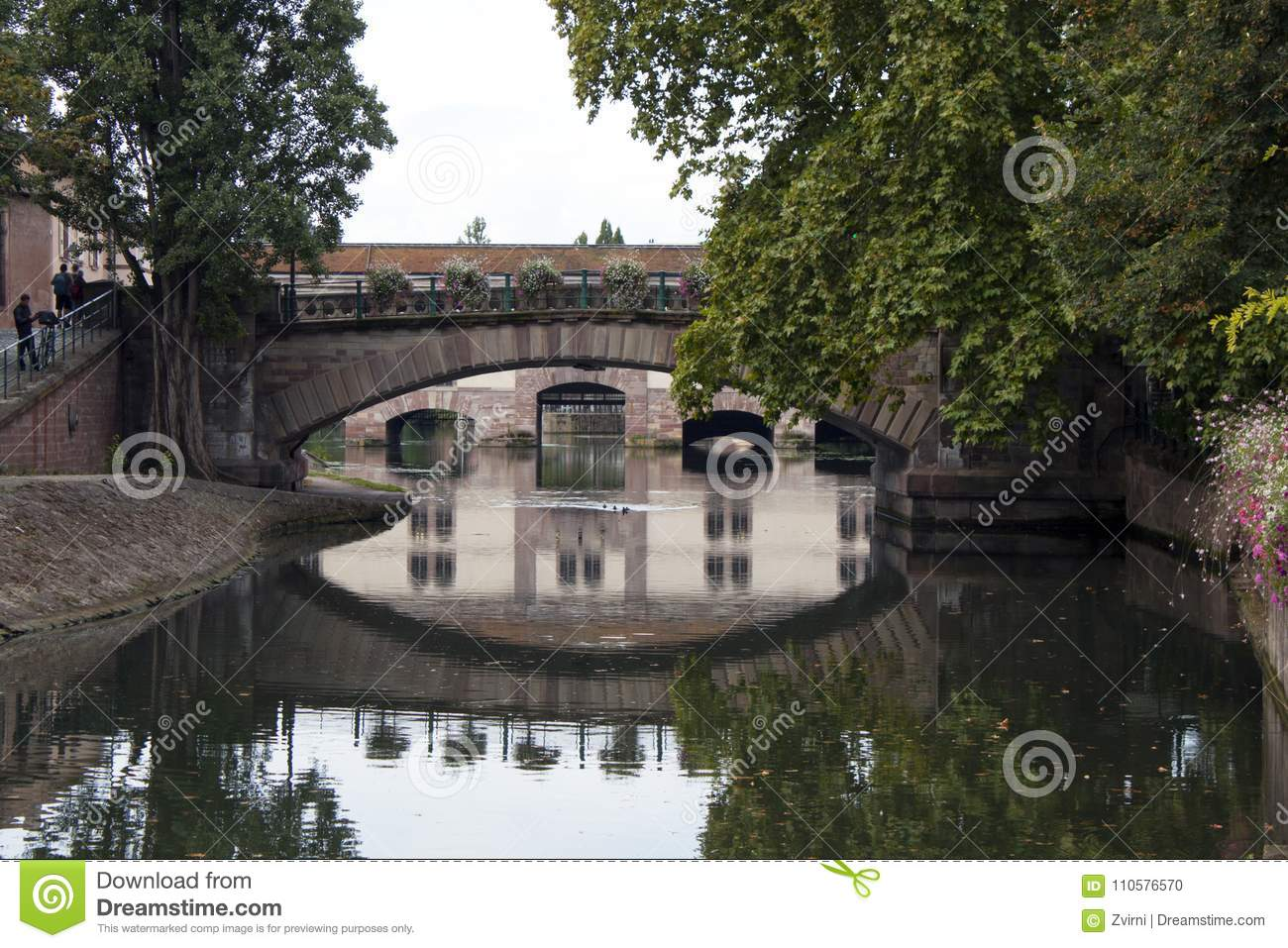 Bridge on the canal, Strasbourg Frence