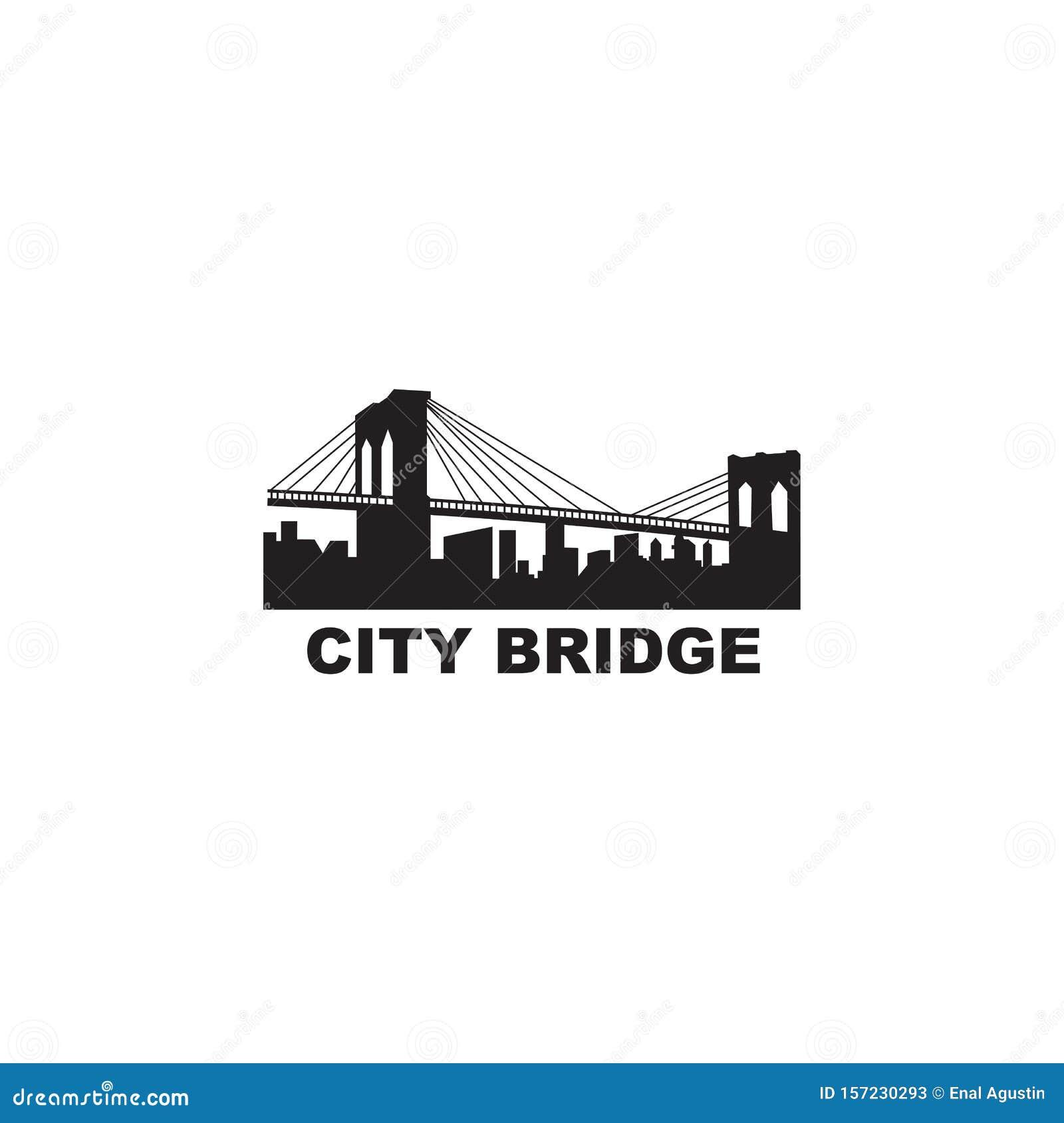 Bridge City Logo Design Inspiration Vector Template Stock Vector Illustration Of Apartment Construction 157230293