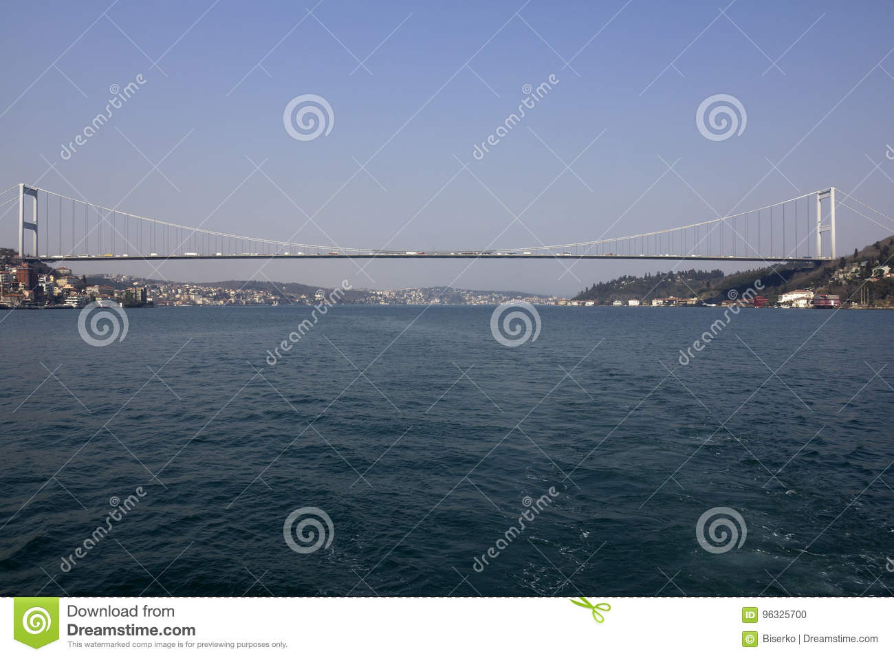 Bridge connecting Europe and Asia in Turkey