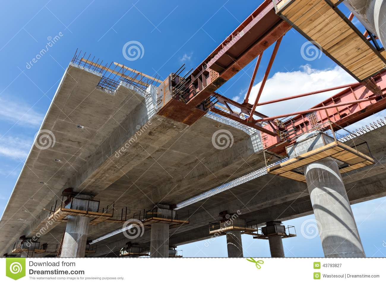 bridge construction closeup stock image image 43793827
