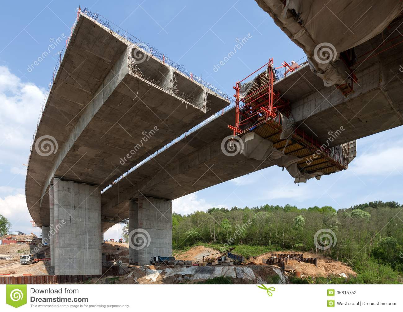 bridge construction stock photography image 35815752