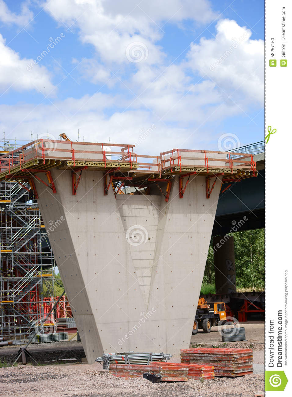 bridge construction site stock photo image 58257150