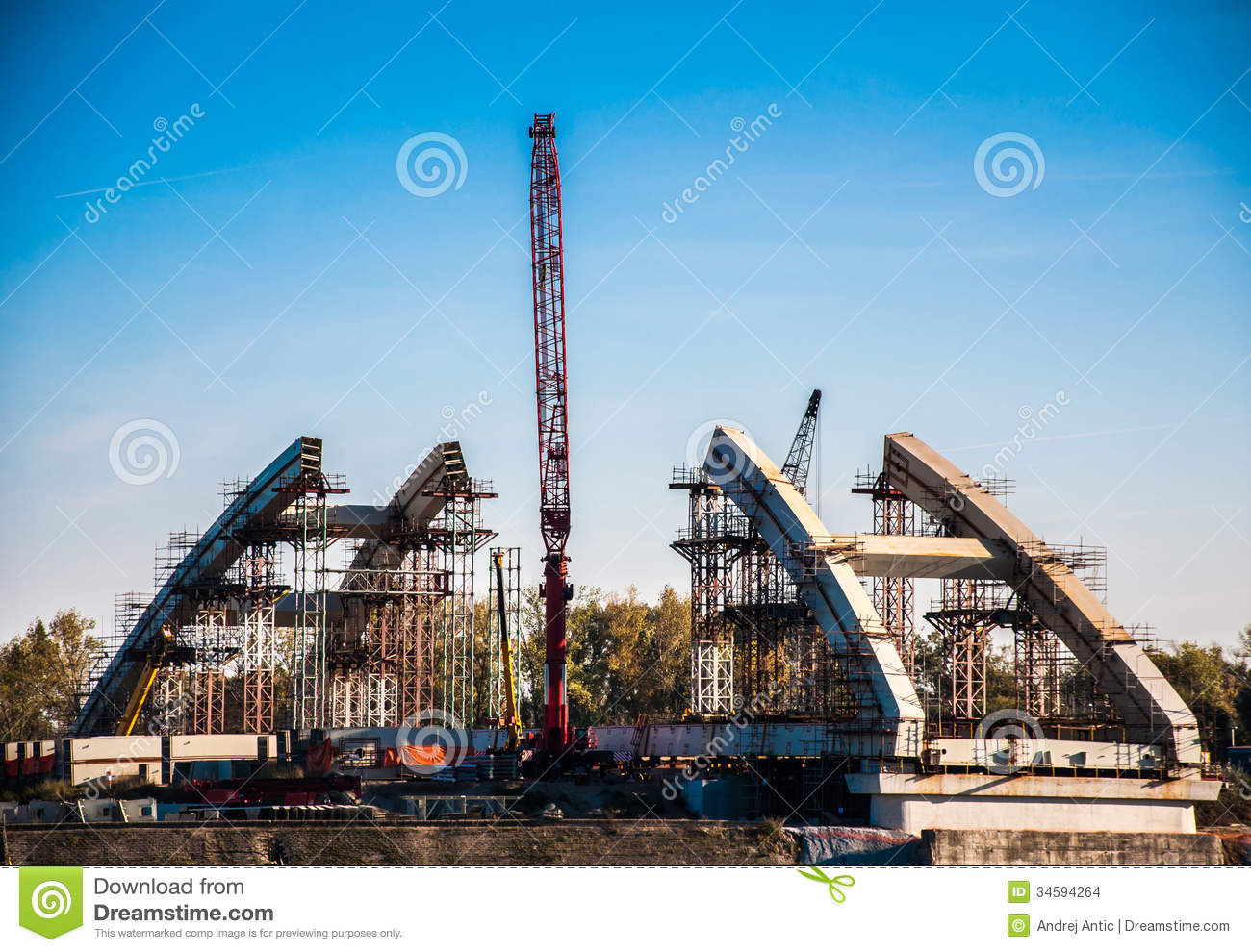 bridge construction stock images image 34594264