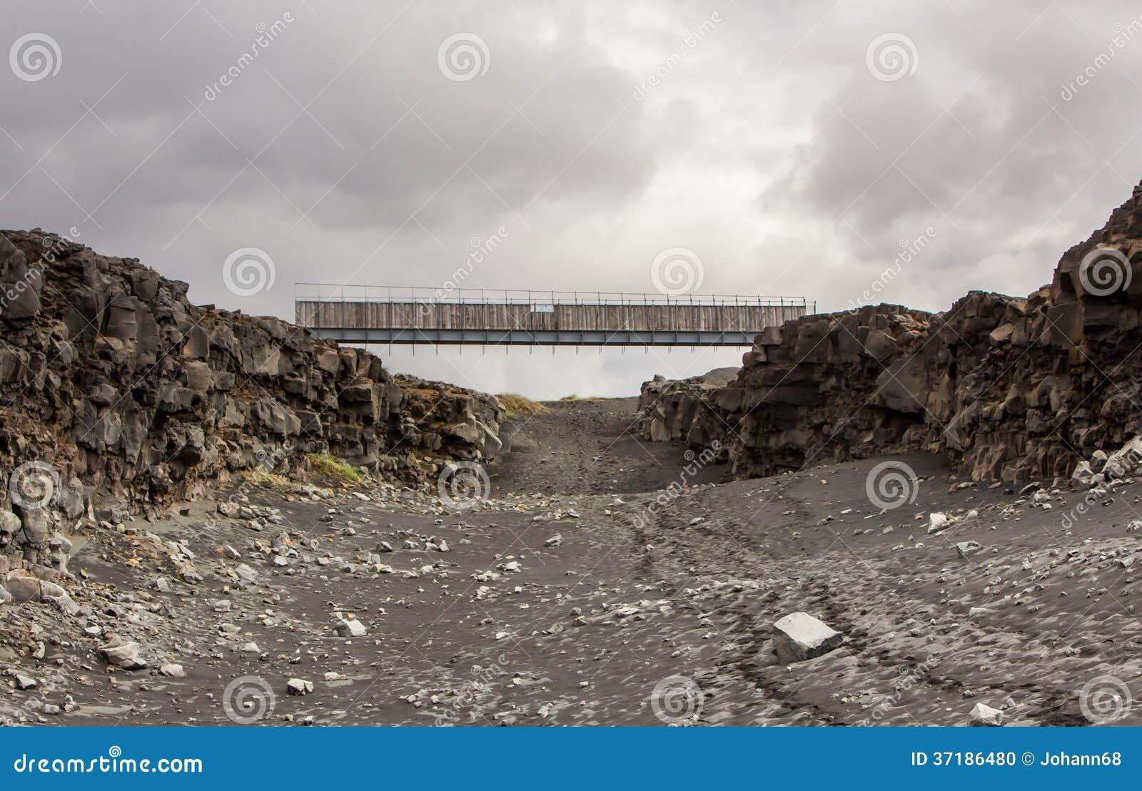 Bridge Between Continents, Iceland Stock Photo - Image ...