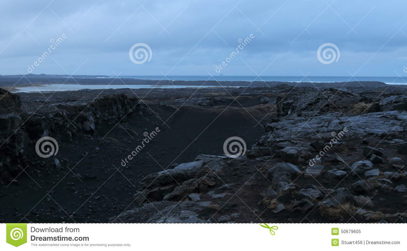 Bridge Between The Continents, Iceland Stock Photo - Image ...
