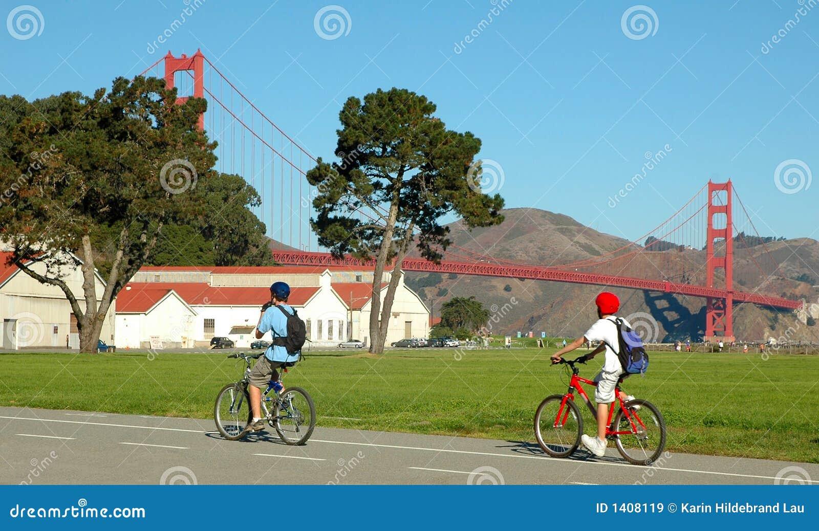 Download Bridge Cyclists stock image. Image of road, tour, activity - 1408119