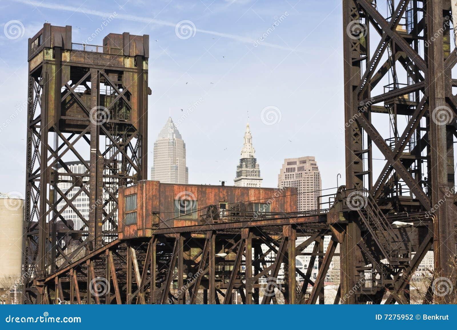 Bridge in Downtown Cleveland