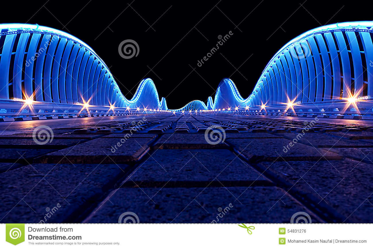 Meydan Bridge in Dubai, UAE.