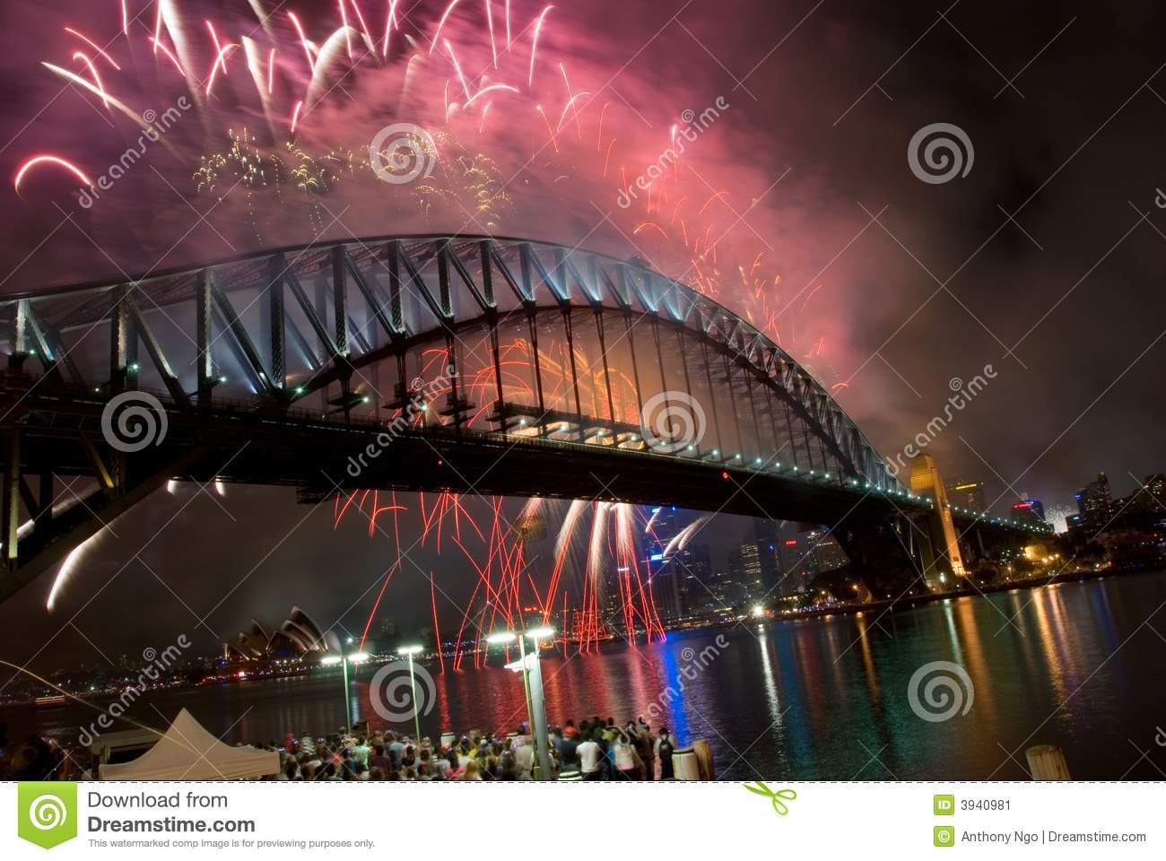 Bridge fireworks harbour new sydney year