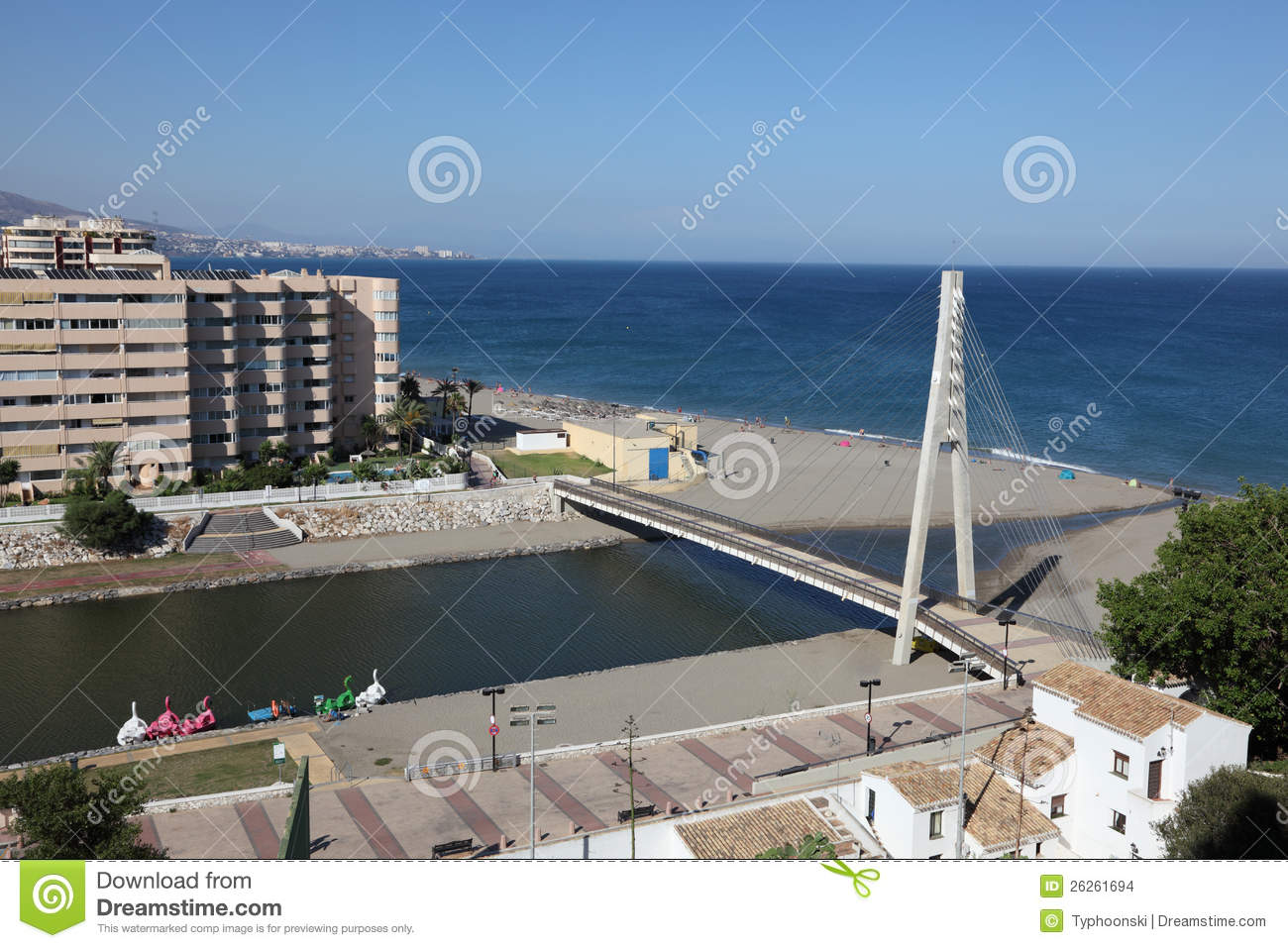 Fuengirola Spain  city photos : ... of the river and pedestrian bridge in Fuengirola, Andalusia Spain