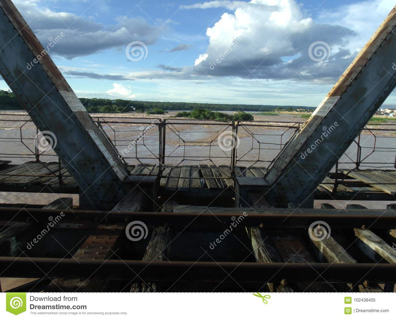 Water under the bridge  stock image  Image of water - 102438405