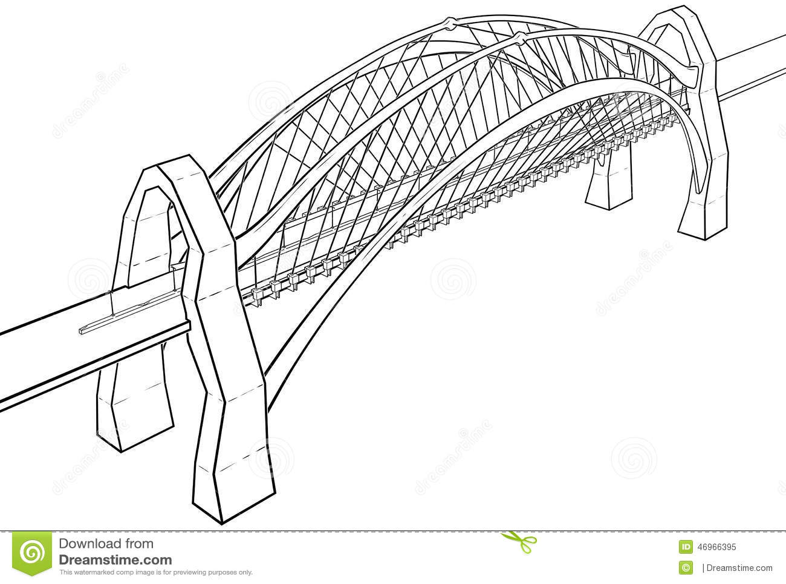 bridge illustration stock illustration