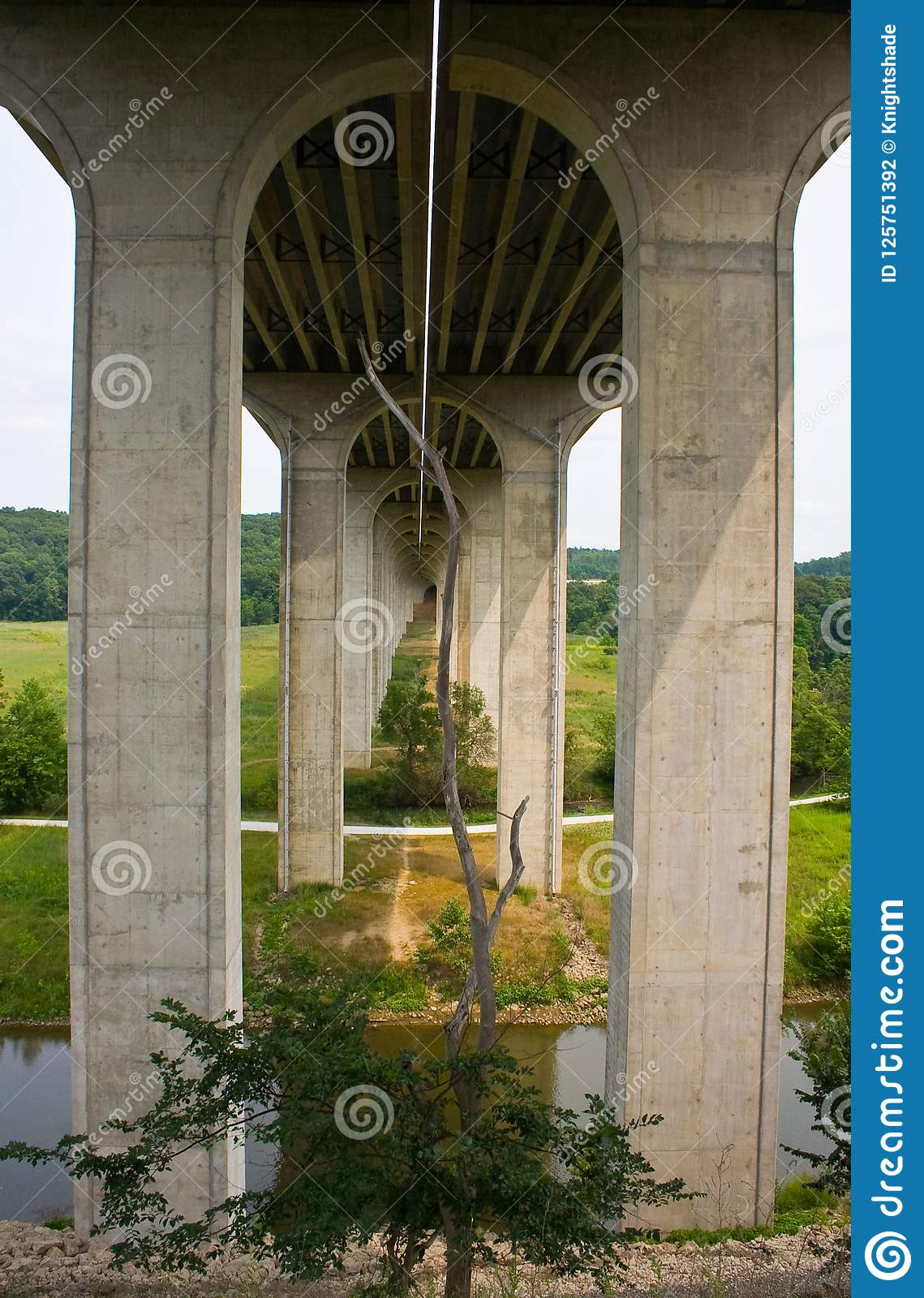 Bridge On Interstate 80 Near Cleveland, Ohio Stock Photo