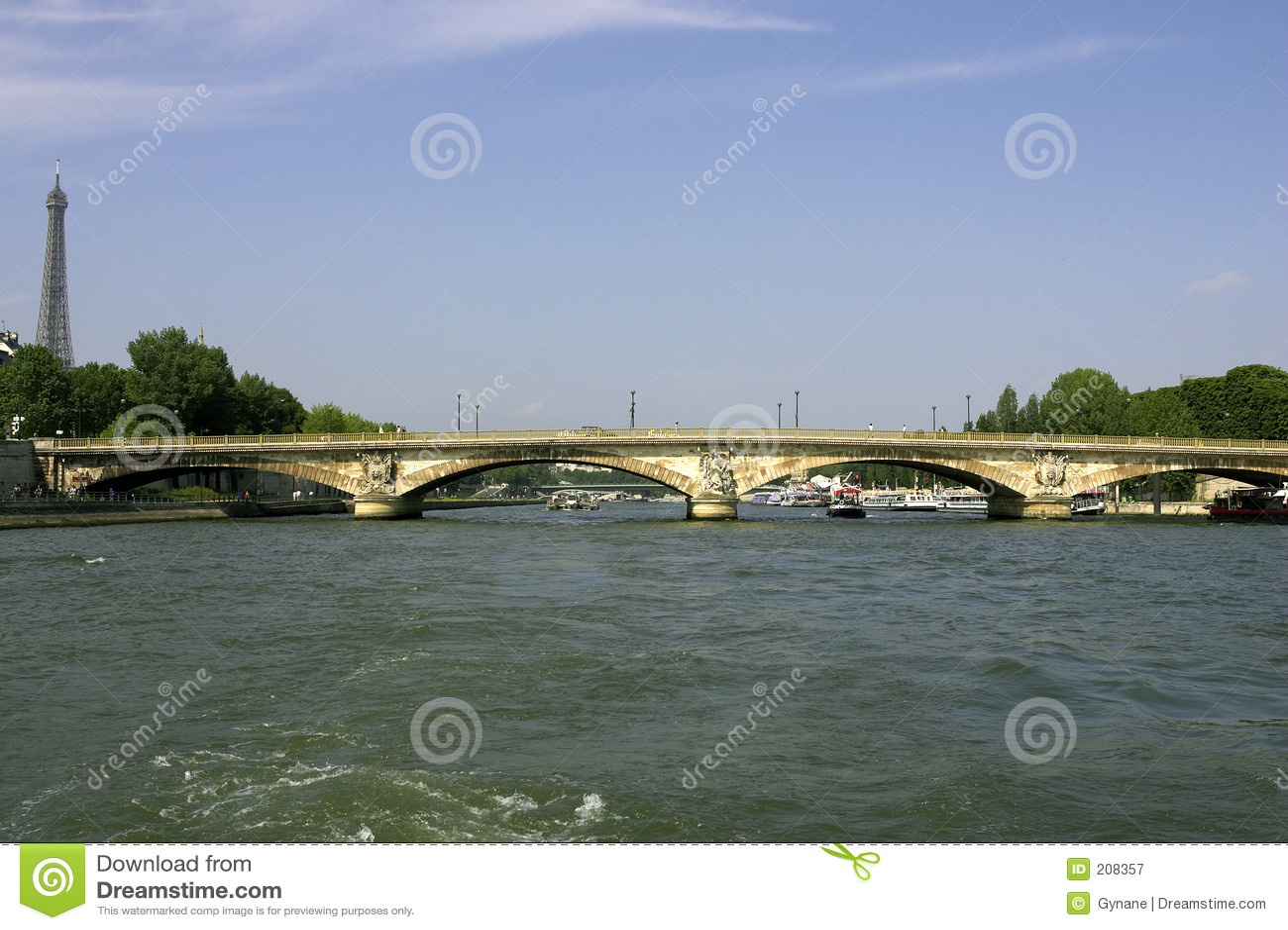 Bridge invalides för des france över seinen för den paris pontfloden