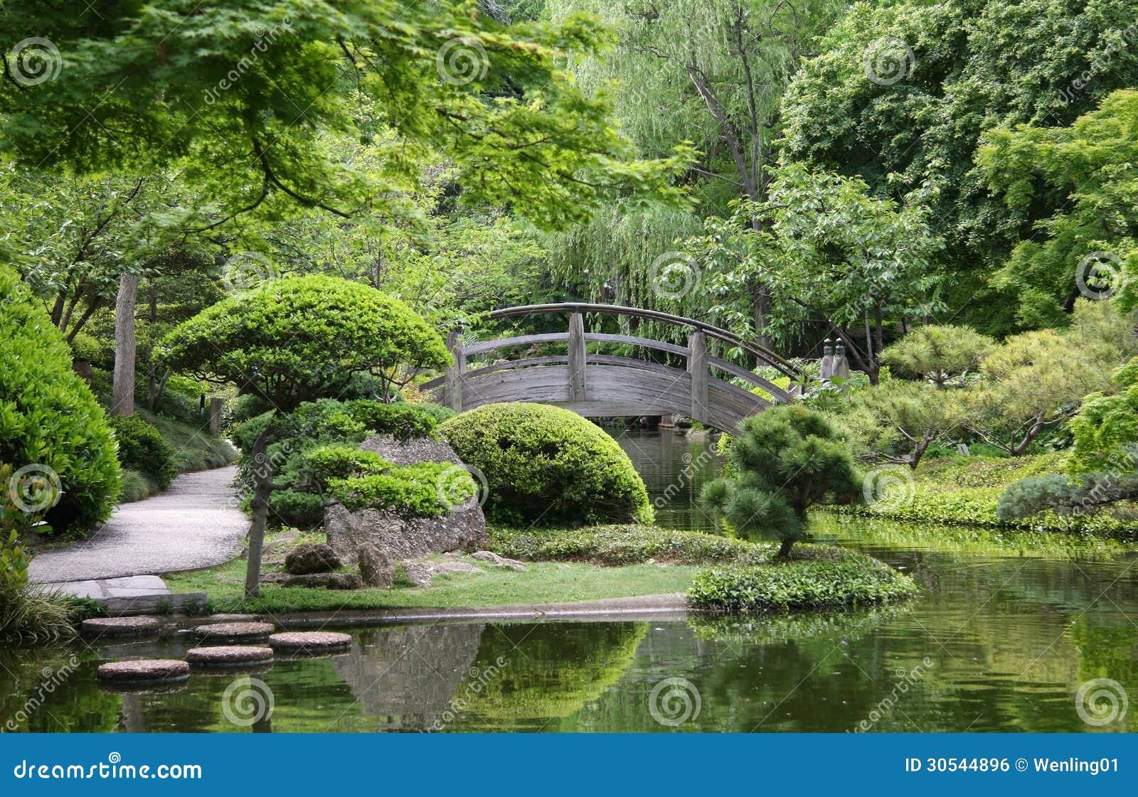 Bridge In Japanese Garden Stock Photo Image Of Alley 30544896